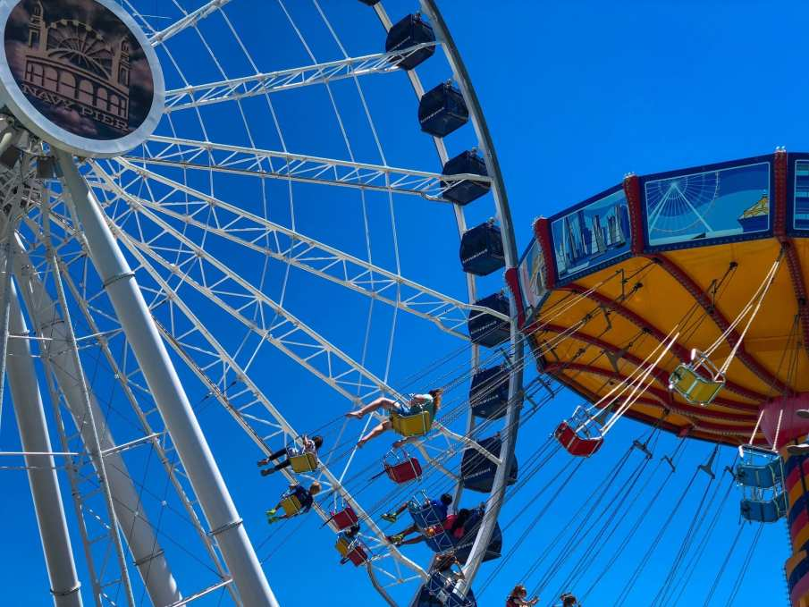 Navy Pier Ferris Wheel Flying Chairs