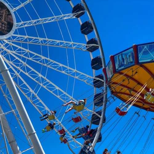Navy Pier Ferris Wheel Flying Chairs