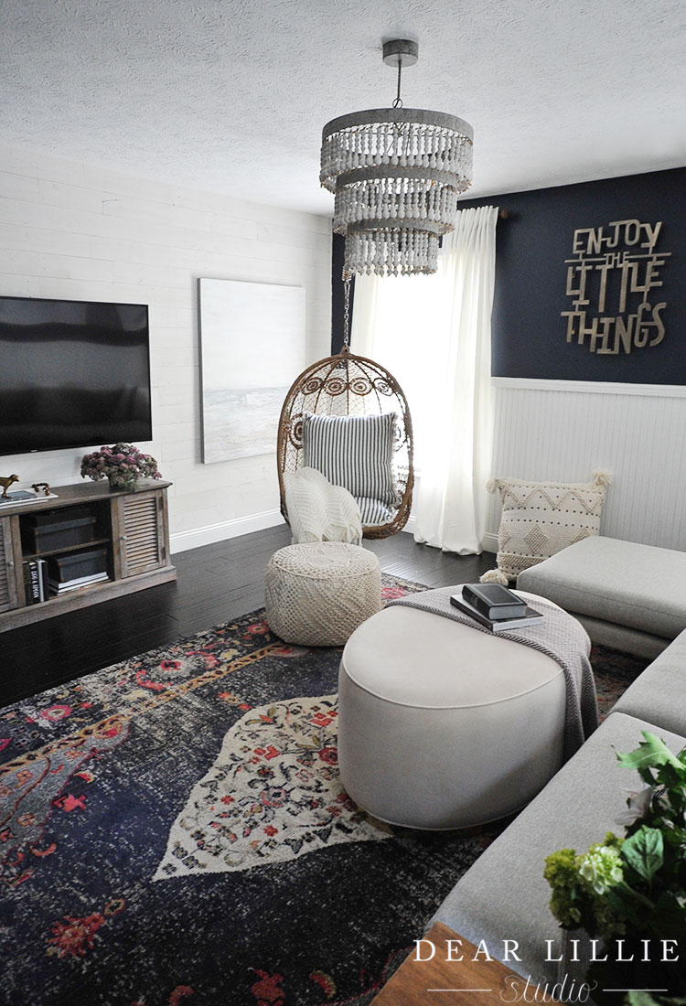 Classic Yorktown Teen Hangout Room With A Stikwood Accent Wall Dear Lillie Studio