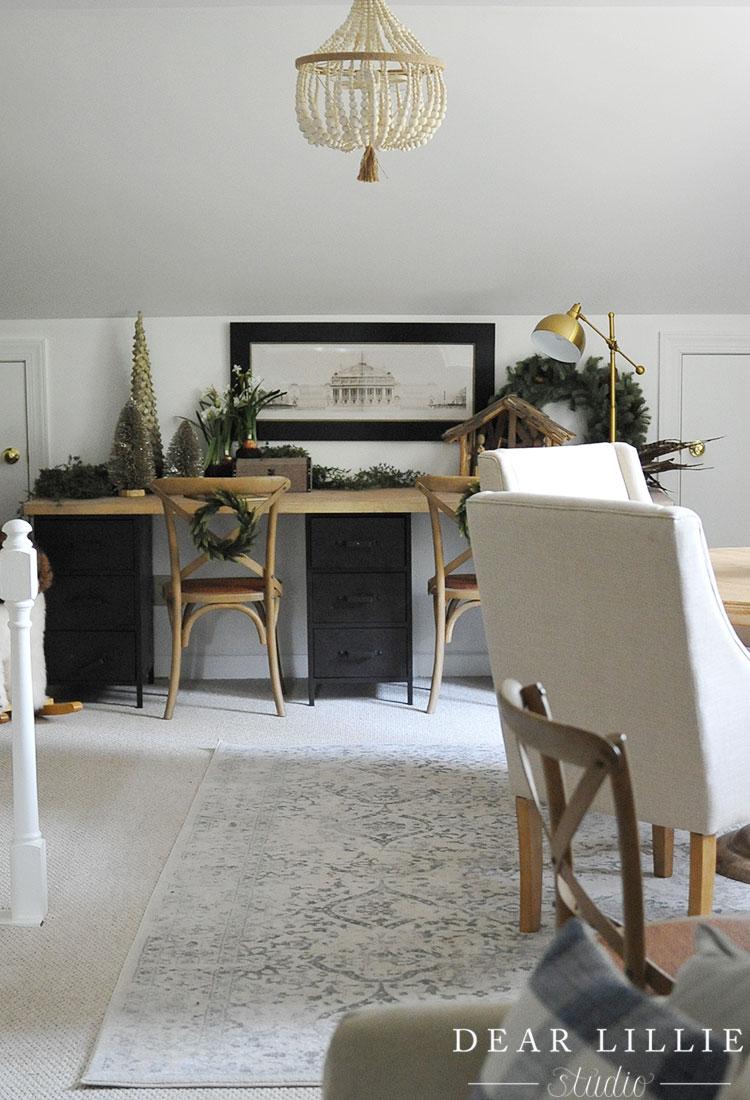wayfair desk chairs mickey mouse uk christmas in the bonus room - dear lillie studio