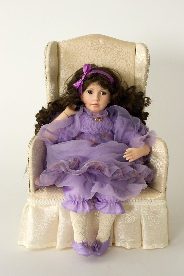 Lavender Dreams Porcelain Soft Body Collectible Doll