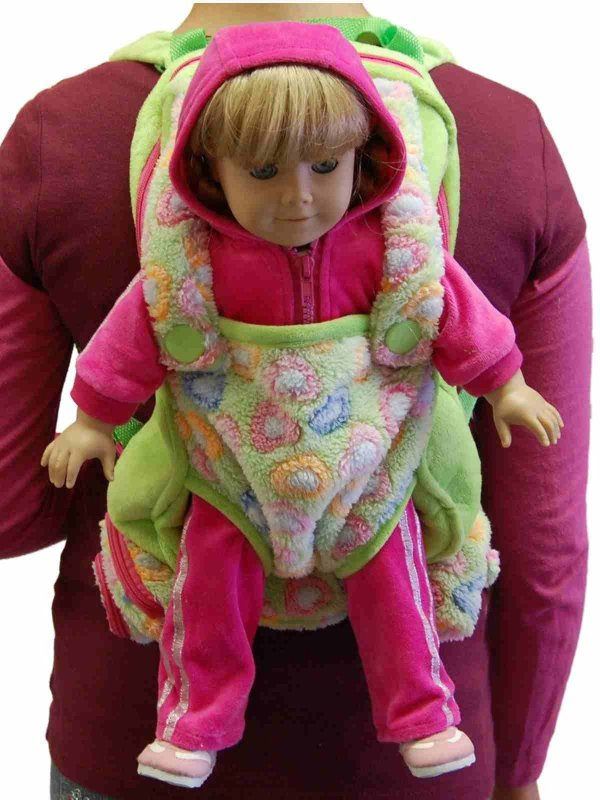 """Childs Backpack Includes 18"""" Doll Carrier And Sleeping Bag"""