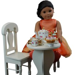 American Doll Chair Teacher Table And Cafe Set For 18 Inch Girl Dolls