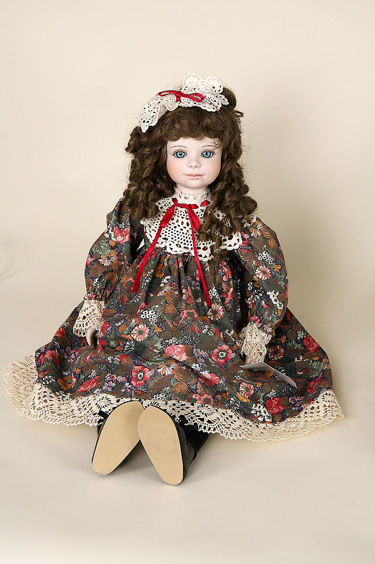 Rachel  porcelain soft body limited edition collectible doll by Jerri McCloud
