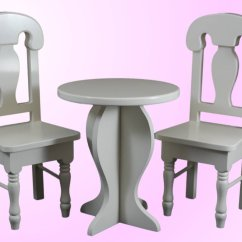 American Doll Chair Revolving Features Cafe Table And Set For 18 Inch Girl Dolls
