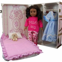 American Girl Doll Chairs Solid Cherry Wood Dining Table And Storage Trunk Bed For 18 Quot Dolls