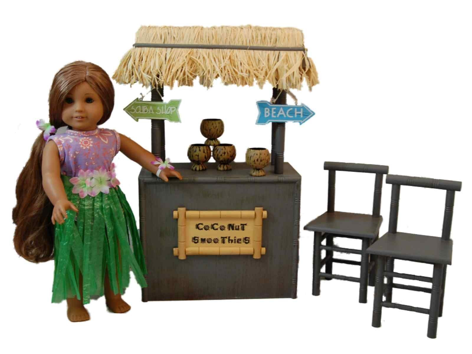 american doll chair saucer chairs sam s club coconut smoothie shaved ice stand furniture and accessories