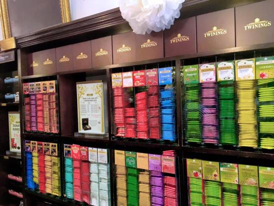 Twinings Tea Variants in Display