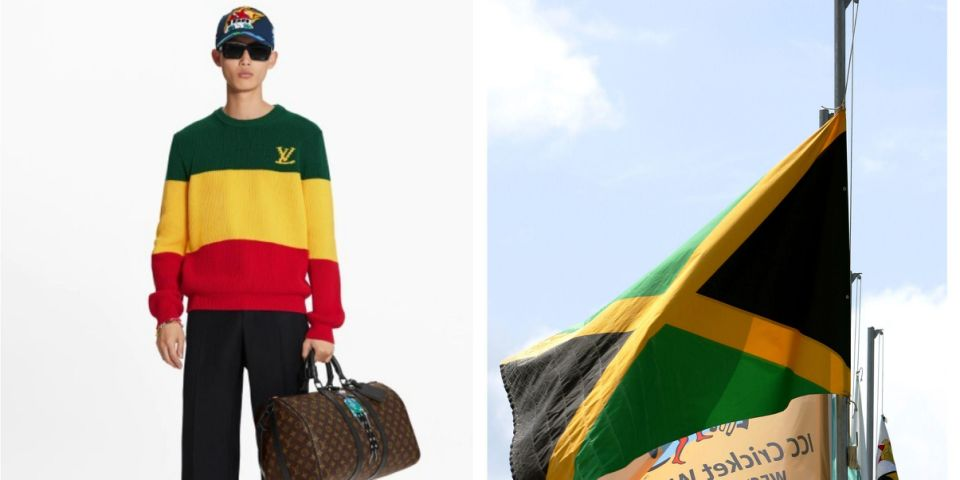 Louis Vuitton unveiled a $1,366 'Jamaican Stripe Jumper' inspired by the island's flag, but the pullover features the wrong colors