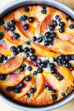 Easiest peach and blueberry Greek yogurt cake from Julia's Album
