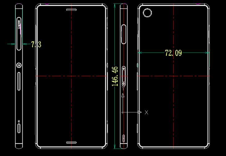 Dimensiones Xperia Z3