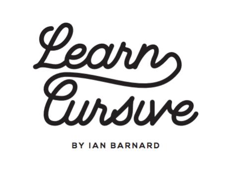 Learn Cursive Script Worksheet by Ian Barnard