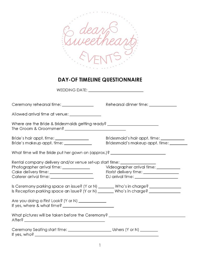 bride to bride: day-of timeline tips - dear sweetheart