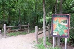 The start of the Palmetto Interpretive Trail