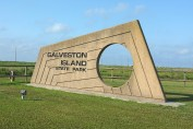 Entrance to Galveston Island State Park