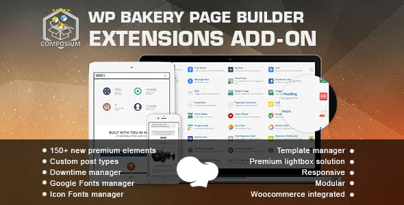 Composium – WP Bakery Page Builder Extensions Addon (formerly for Visual Composer)