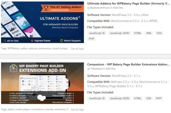 Top Add-ons Plugins for WordPress