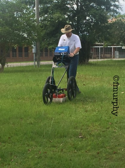 Dr. David Holt operating the GPR.