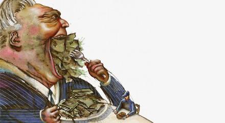 eating money illustration