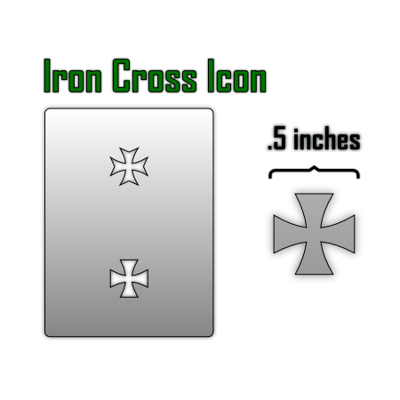iron cross icon airbrush