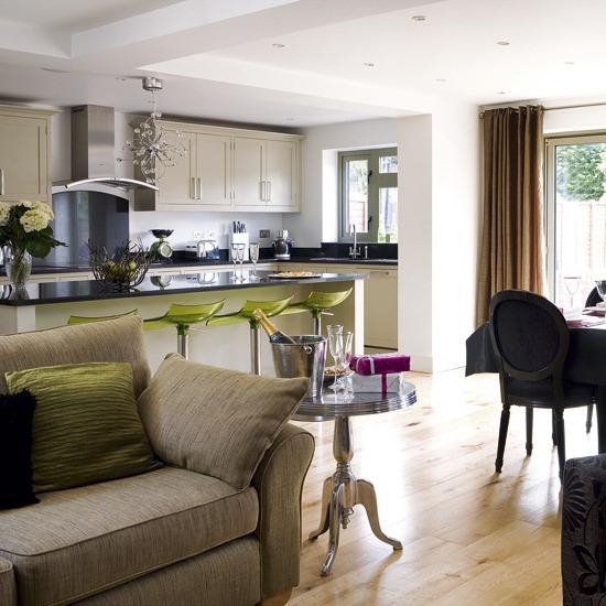 wohnzimmer einrichtung wohnzimmer ideen offener kuche l - boisholz - Offene Kuche Zum Wohnzimmer