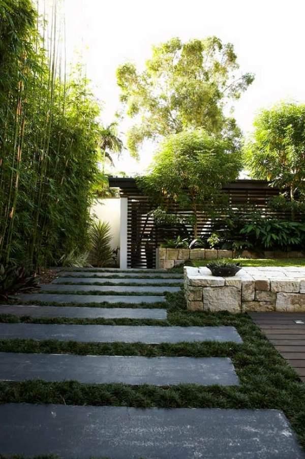 landschaft gartengestaltung ideen modern bilder gras   designmore, Garten dekoo