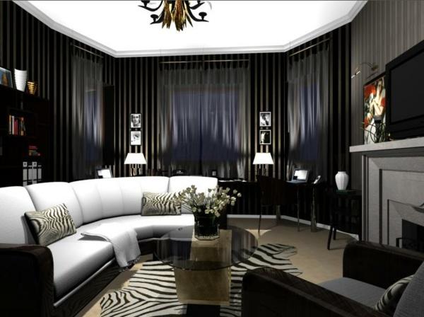 schwarz wei wohnzimmer – usblife, Wohnzimmer design