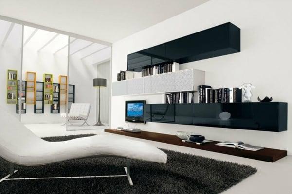 Hochwertig Wohnzimmer Modern Schwarz Wei U2013 Sbemag, Modern Dekoo
