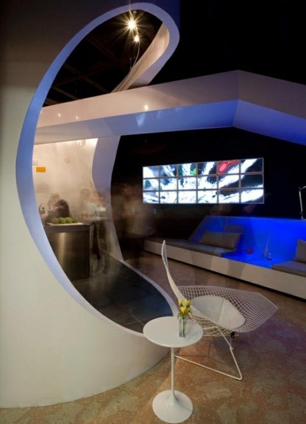 Futuristisches Haus Interieur  eine Loft Wohnung in LA