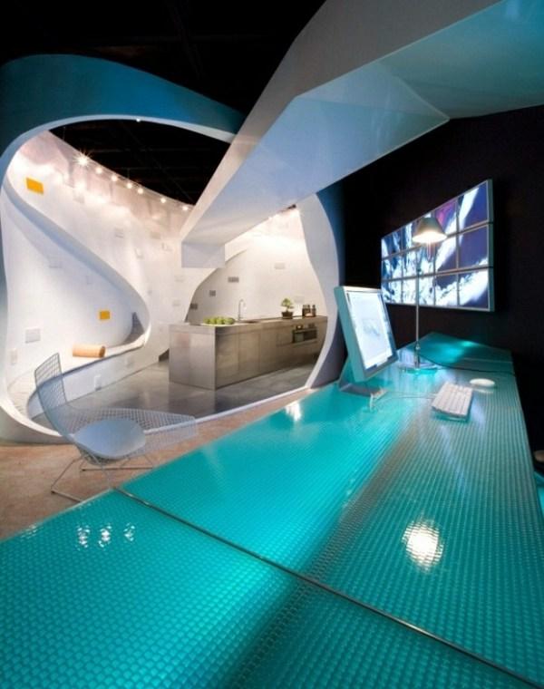 Futuristisches Interieur Loft Wohnung  monrefnet