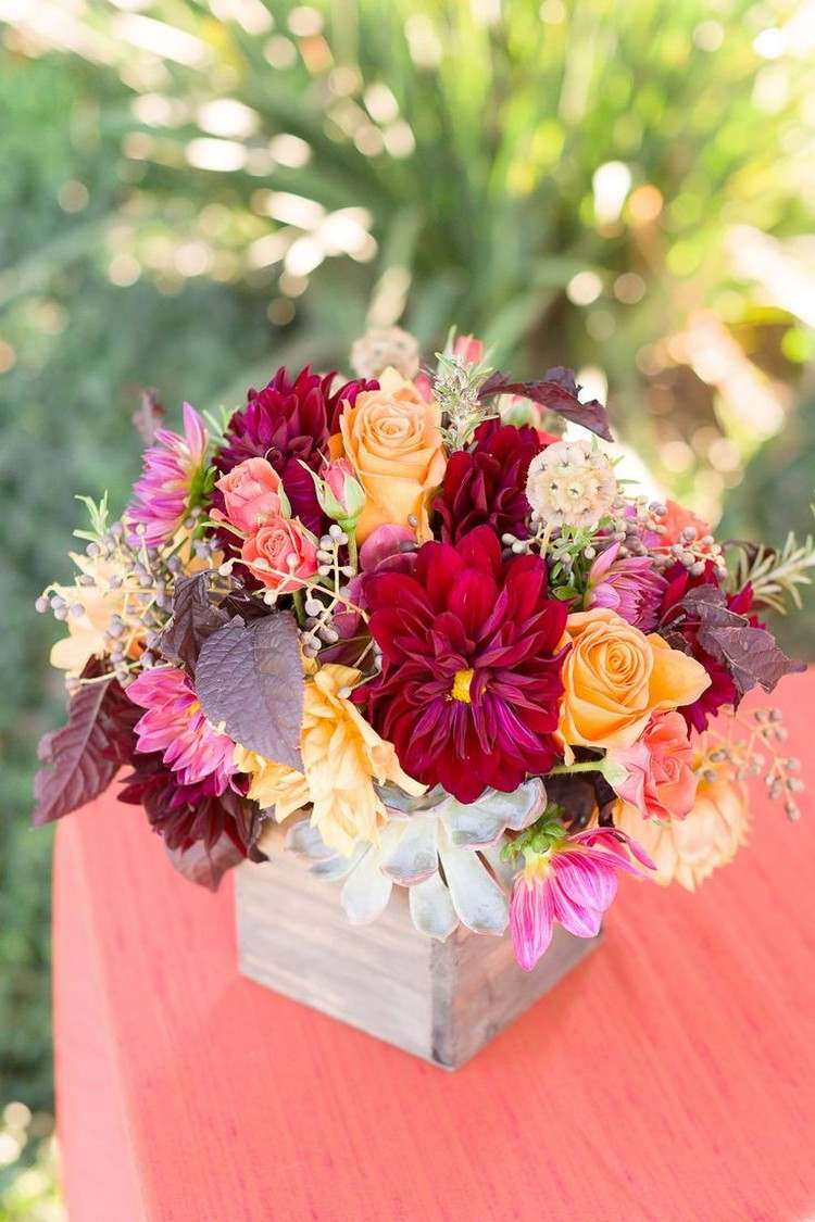Herbstblumen fr stimmungsvolle Herbstdeko Ideen im Haus