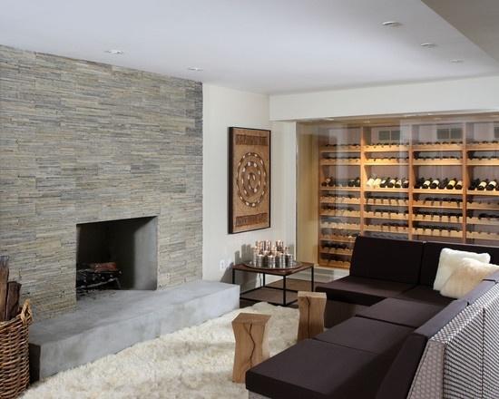 graue natursteinwand im wohnzimmer natursteinwand im wohnzimmer, Mobel ideea