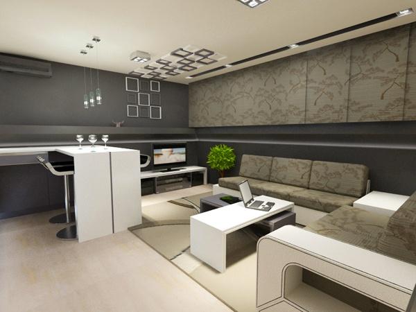 33 Einrichtungsideen Für Tolle Deckengestaltung Im Wohnzimmer ... Moderne Deckenverkleidung Wohnzimmer