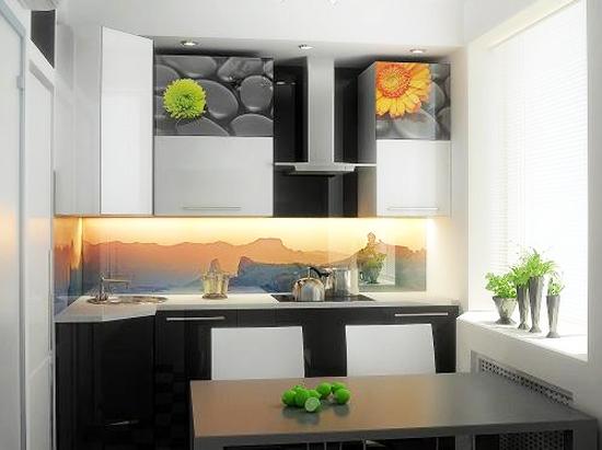 Küchenrückwand mit Acrylglasfoto