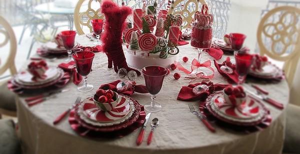 Blaue Tischdeko Weihnachten