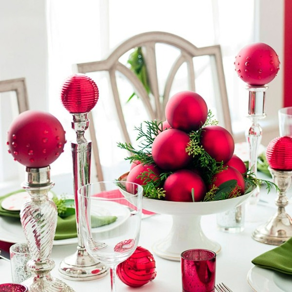 Entzckende Tischdeko fr Weihnachten