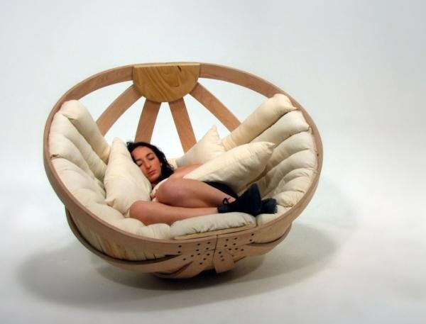 Modernes Wohndesign SchaukelBett im Schlafzimmer