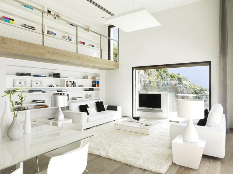 38 Ideen fr weies Wohnzimmer  Wohnideen mit Reinheit