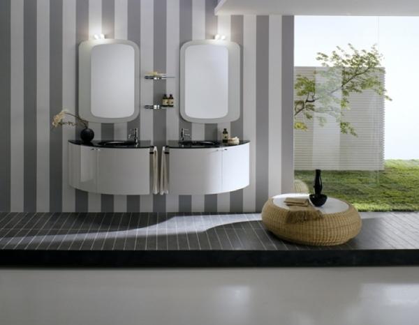 Moderne Badmbel von Artesi  eleganter Hochglanz und warmes Holz