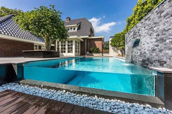Glaswand Pool Kleingarten Pool Im Garten Bauen