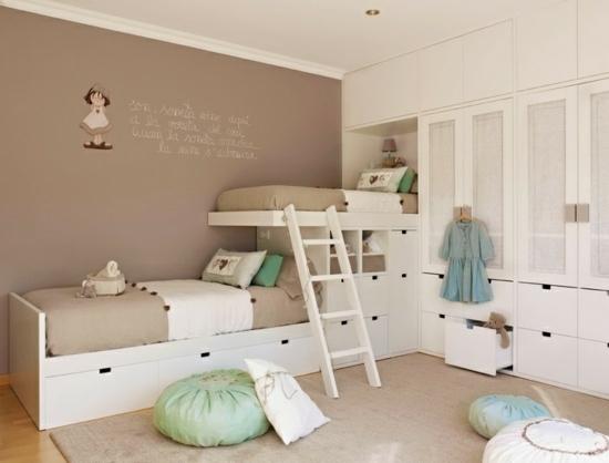 Wandfarbe fr Kinderzimmer  Grn und Beige kombinieren
