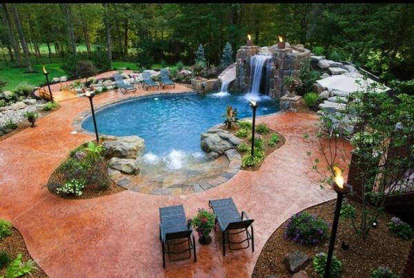 Wasserfall Kunstlich Garten