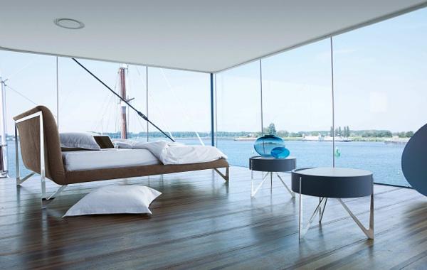 sofa lila mit decke und kissen - boisholz, Badezimmer