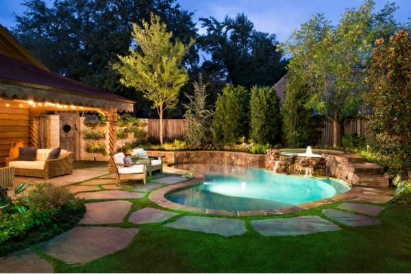 Kleiner Runder Pool Garten
