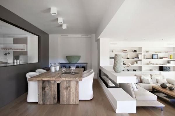 Beispiel fr moderne Einrichtung  Wohnung komplett in Wei