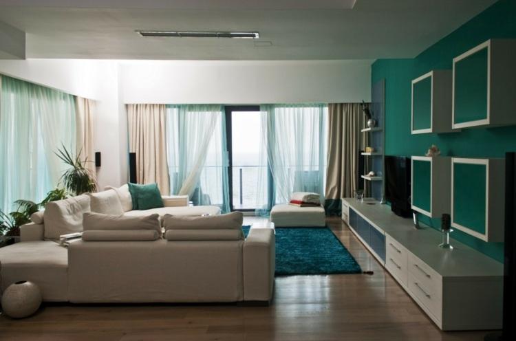 Wohntrends 2013  trendige Wandfarbe und Wohndeko in trkis und grn