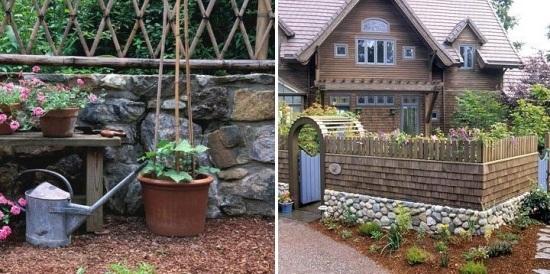 steinmauer garten klinker gartengestaltung ideen modern | moregs, Gartenarbeit ideen