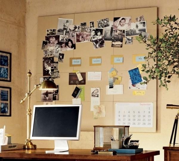 Pinnwand im Home Officeder kreative Helfer beim Organisieren zu Hause