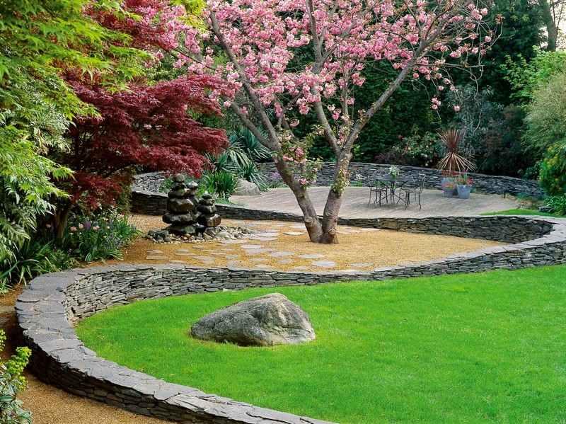 Steinmauer im Garten bauen  Ideen fr Gartenarchitektur