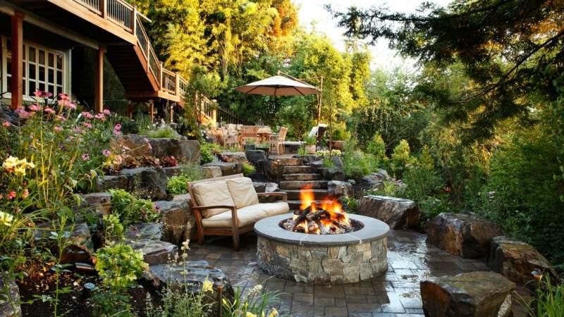 Gartengestaltung Pflege Terrassen Garten Terrasse Anlegen Ideen ... Garten Terrasse Anlegen Ideen Boden